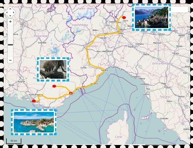 Carte des sorties
